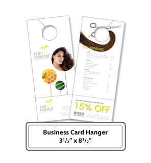 Customizable Business Card Hangers online Print Services - Hangers Custom Printing