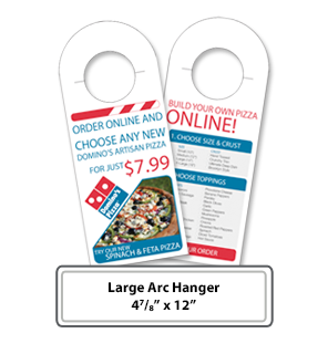 Custom Printing of large arc hangers - Online Print Services