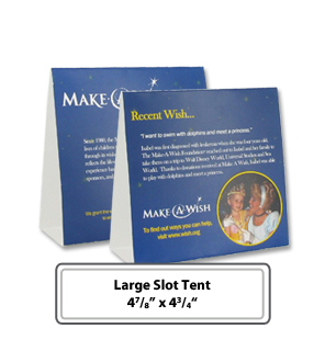 Customizable Large Slot Table Tents