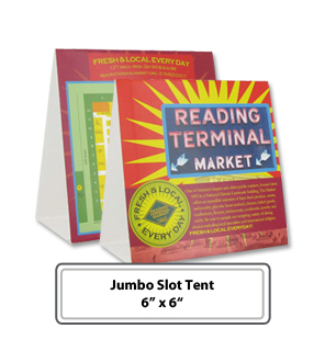 Personalized Jumbo Slot Table Tents