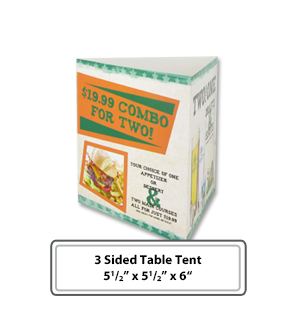 Custom 3 Sided Table Tents ...  sc 1 st  Labels on the Fly & Custom Table Tents - Great Quality and Low Prices