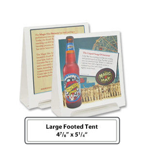 Footed Table tents with custom image