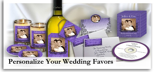 Personalized wedding labels, wedding stickers, custom wedding favors, wedding favortags