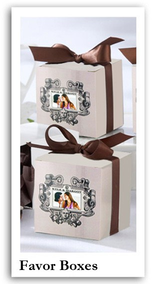Personalized gift boxes, wedding favor boxes, gift boxes